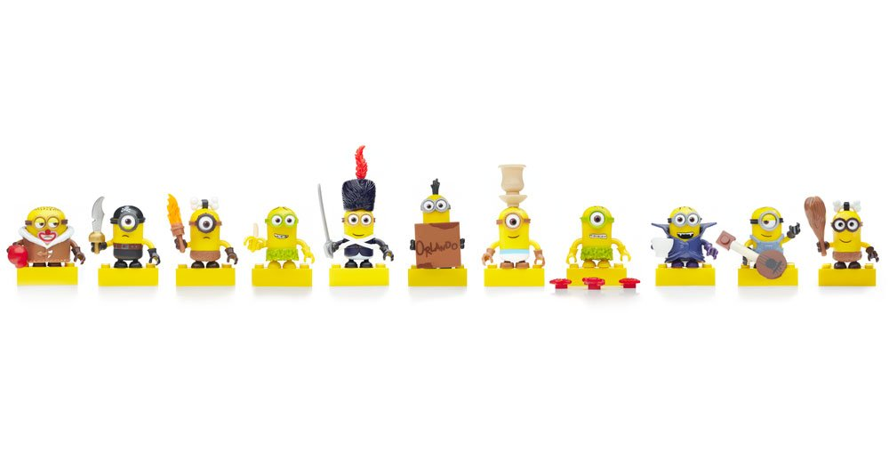 Mega Bloks Despicable Me Minions Movie Exclusive Series 3 Blind Bags Set of 12 Different Codes