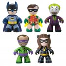 DC Comics 2014 Mini Mez-Itz 1966 Batman Classic TV Series 5 Pack Box Set by Mezco Toyz