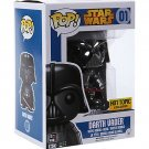 Hot Topic FUNKO Star Wars Force Awakens POP! #01 Chrome Metallic Darth Vader Bobble-Head Figure