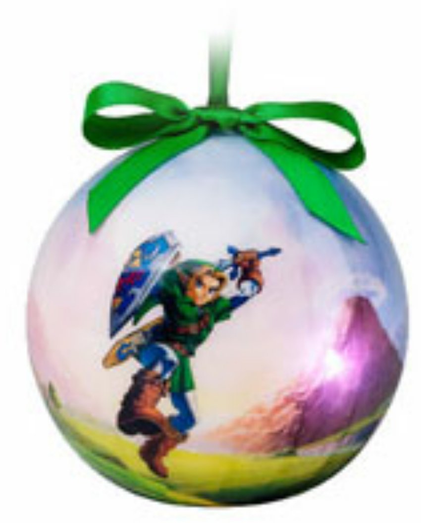 Limited Edition GameStop Exclusive Zelda Ocarina of Time Link Light Up Christmas Ornament w/LED