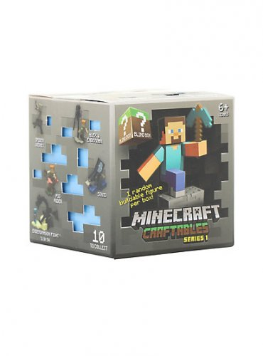 Official Minecraft Craftables Series 1 Buildable Figure Mystery Blind Box x10 by Mojang