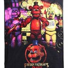 FNAF | Five Nights At Freddy's Fleece Plush Throw Blanket - Fazbear Bonnie Chica Cupcake Carl