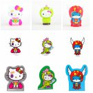 Set of 9 tokidoki x Hello Kitty Coin Bank Figures Kaiju, Boxer, & Super + Magnets & Sticky Notes