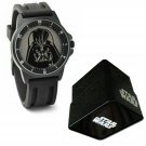Star Wars Darth Vader Analog Watch With Collectors Tin Gift Box - Black #DAR1011