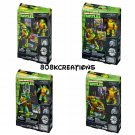 Set of 4 - TMNT Mega Bloks Classic Collectors Series Donatello, Michelangelo, Leonardo, & Raphael