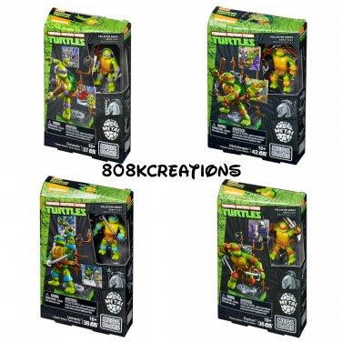 Set of 4 - TMNT Mega Bloks Classic Collectors Series Donatello, Michelangelo, Leonardo, & Raphael