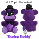 "Retired Five Nights At Freddy's FNAF Shadow Freddy 6"" Collectible Plush Hot Topic Exclusive by FUNKO"