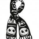 Disney Tim Burton's The Nightmare Before Christmas Black & White Fair Isle Knit Scarf