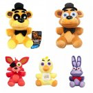 Five Nights At Freddy's Plush Figures Set of 5 - Freddy Golden Freddy (Walmart) Foxy Chica & Bonnie