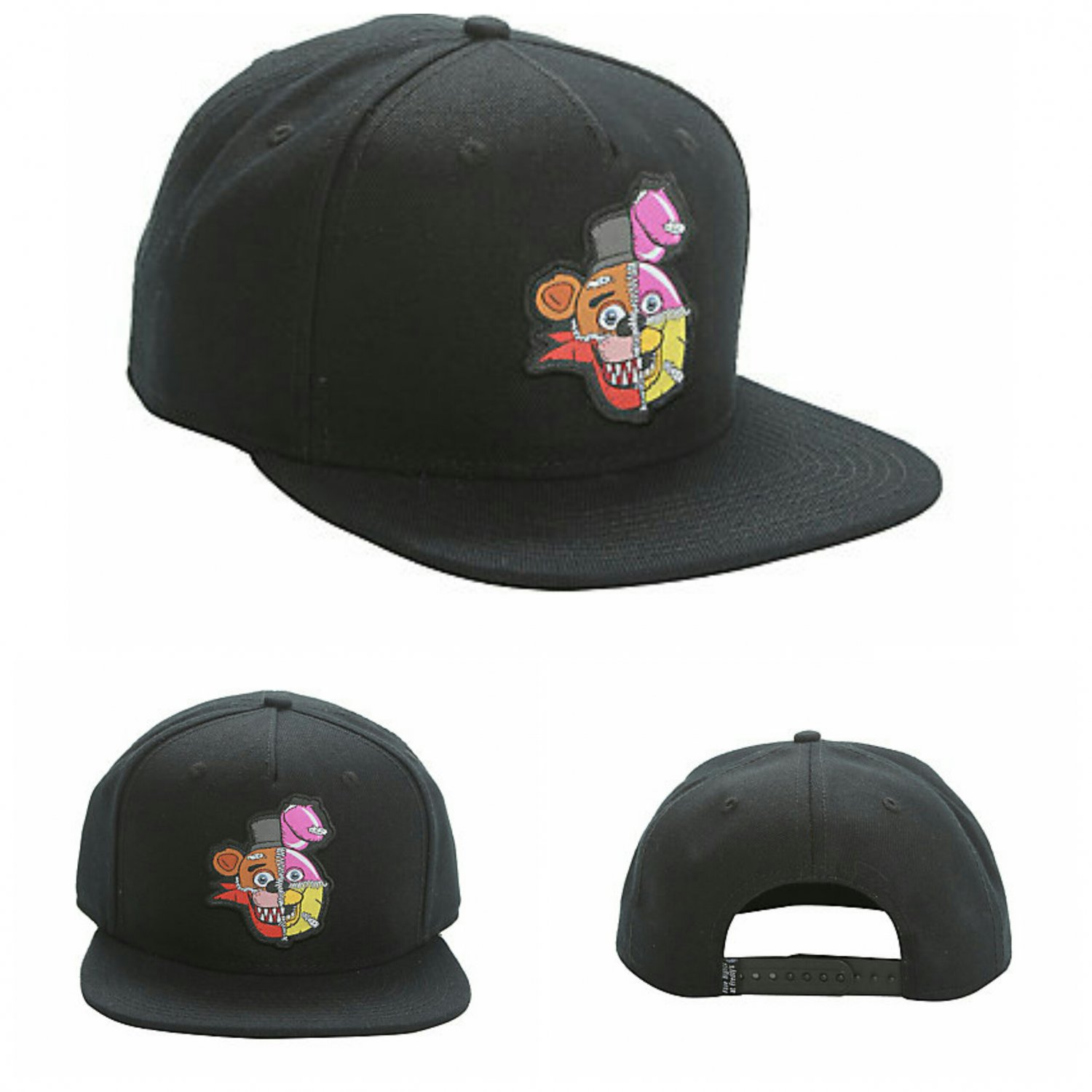 big sale 347a2 fb247 17157 10535968 808kcreations. five nights at freddys fanf stitched  characters snapback hat cap black hot topic ...