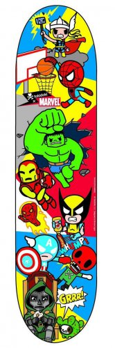 Retired Limited Edition tokidoki � Marvel Allstars 2 Skate Deck Skateboard