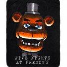 "Five Nights At Freddy's Freddy Fazbear's Face 44""×50"" Throw Blanket"