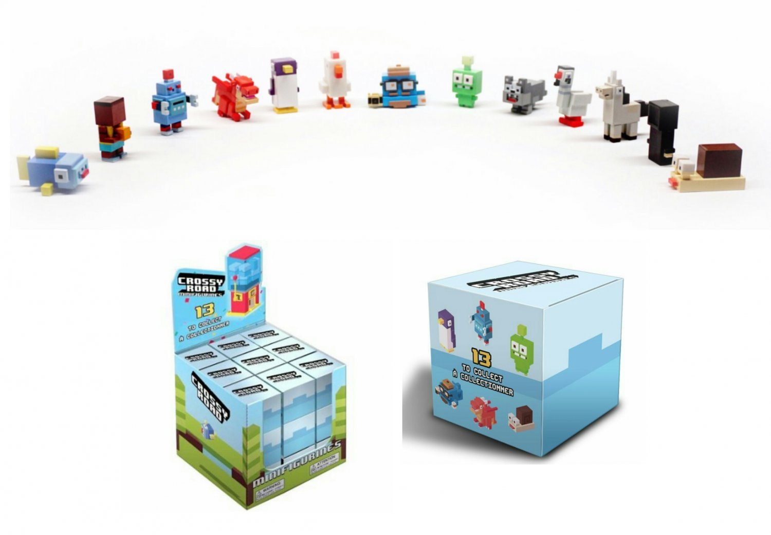 Crossy Road Mystery Minifigures Blind Box Case of �36 Sealed Packs + Retail Display Box
