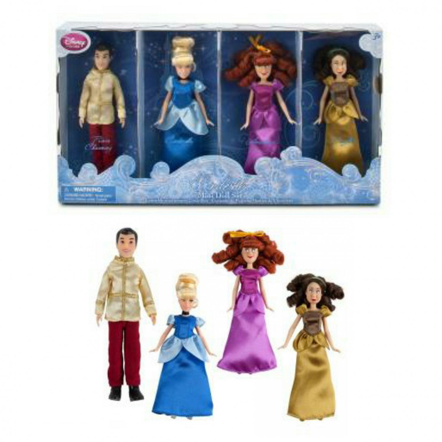DISNEY Store Exclusive - Cinderella Mini Disney Princess Doll Set