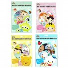 Set of 4 Disney Tsum Tsum  Big Decoration Sticker Pack, Assorted Disney Characters