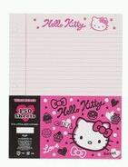 Retired Sanrio Hello Kitty 3-Ring Binder Paper: Squiggle Collection