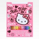 Retired Sanrio Hello Kitty 16 Piece Colored Pencil Set: Squiggle Collection