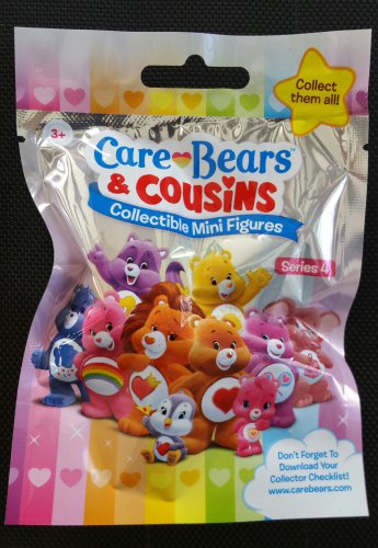 Lot of 24 Care Bears & Cousins Collectible Mini Figures Mystery Blind Bags Series 4 by Just Play