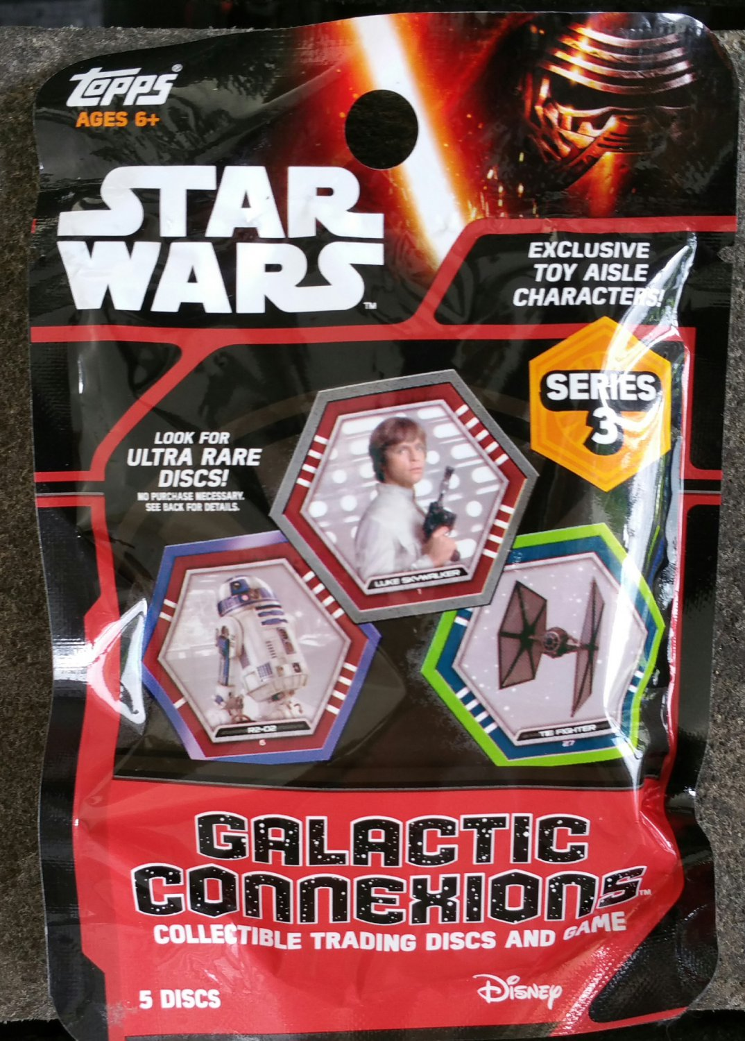 Topps Disney Star Wars Galactic Connexions Series 3 Trading Disc & Game Blind Bag Case of �24 Packs
