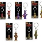 Funko Five Nights At Freddy's Figural 3D Key Chain Set of 5 Foxy Bonnie Chica Freddy Spring Trap