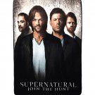 Supernatural Characters Fleece Blanket Throw (Winchester Brothers Sam & Dean, Crowley, & Castiel)