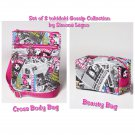 Retired Set of 2 tokidoki Gossip Cross Body Bag & Beauty Bag by Simone Legno