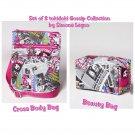 Retired Set of 2 tokidoki Gossip Cross Body Bag & Beauty Bag by Simone Legno