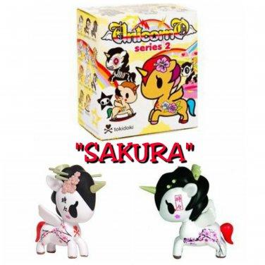 Retired tokidoki Unicorno Series 2 SAKURA Vinyl Figure by Simone Legno - Opened Blind Box