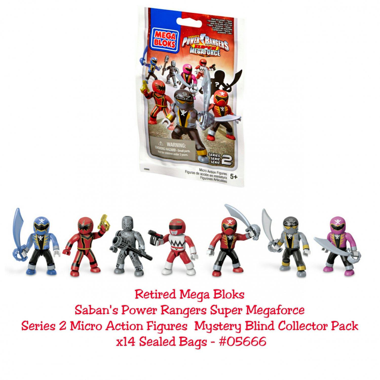 Retired Mega Bloks Power Rangers Super Megaforce Series 2 Figures Mystery Blind Collector Pack �14