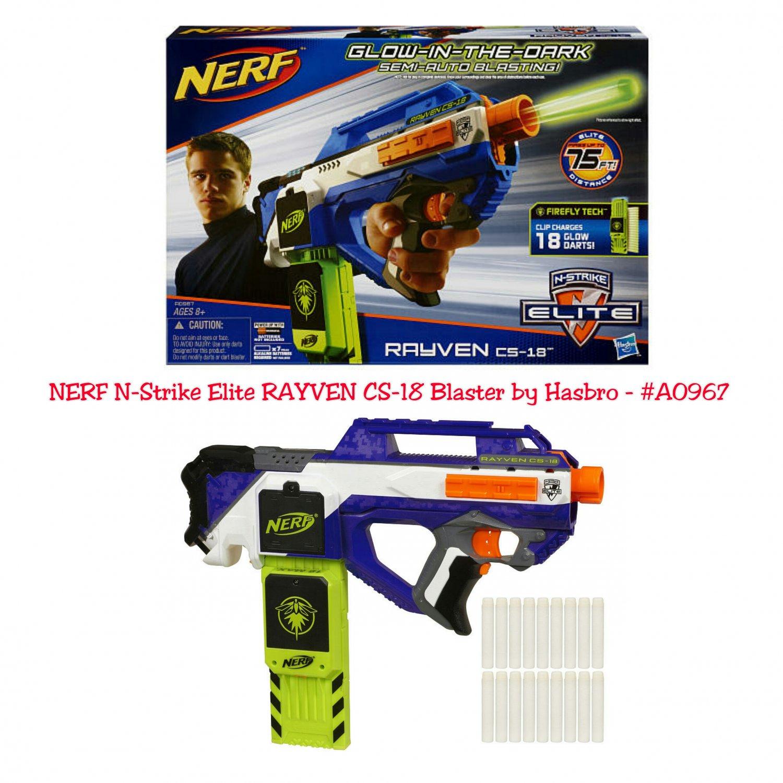 Retired NERF N-Strike Elite RAYVEN CS-18 Blaster  by Hasbro - #A0967