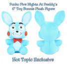"Funko Five Nights At Freddy's FNAF Toy Bonnie 6"" Collectible Plush Figure Hot Topic Exclusive"