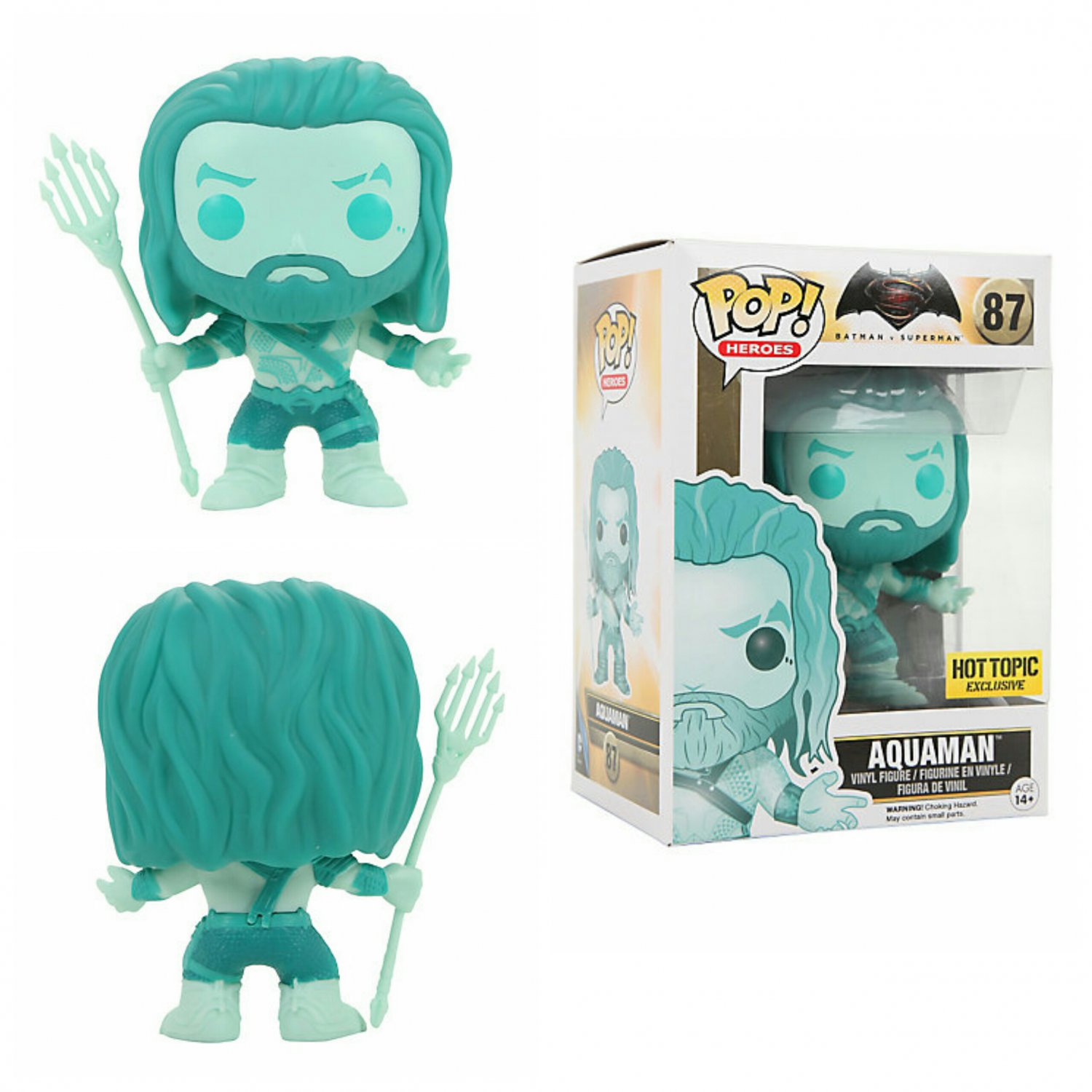 FUNKO DC Comics POP! Batman V Superman: Dawn of Justice Aquaman Figure Hot Topic Exclusive