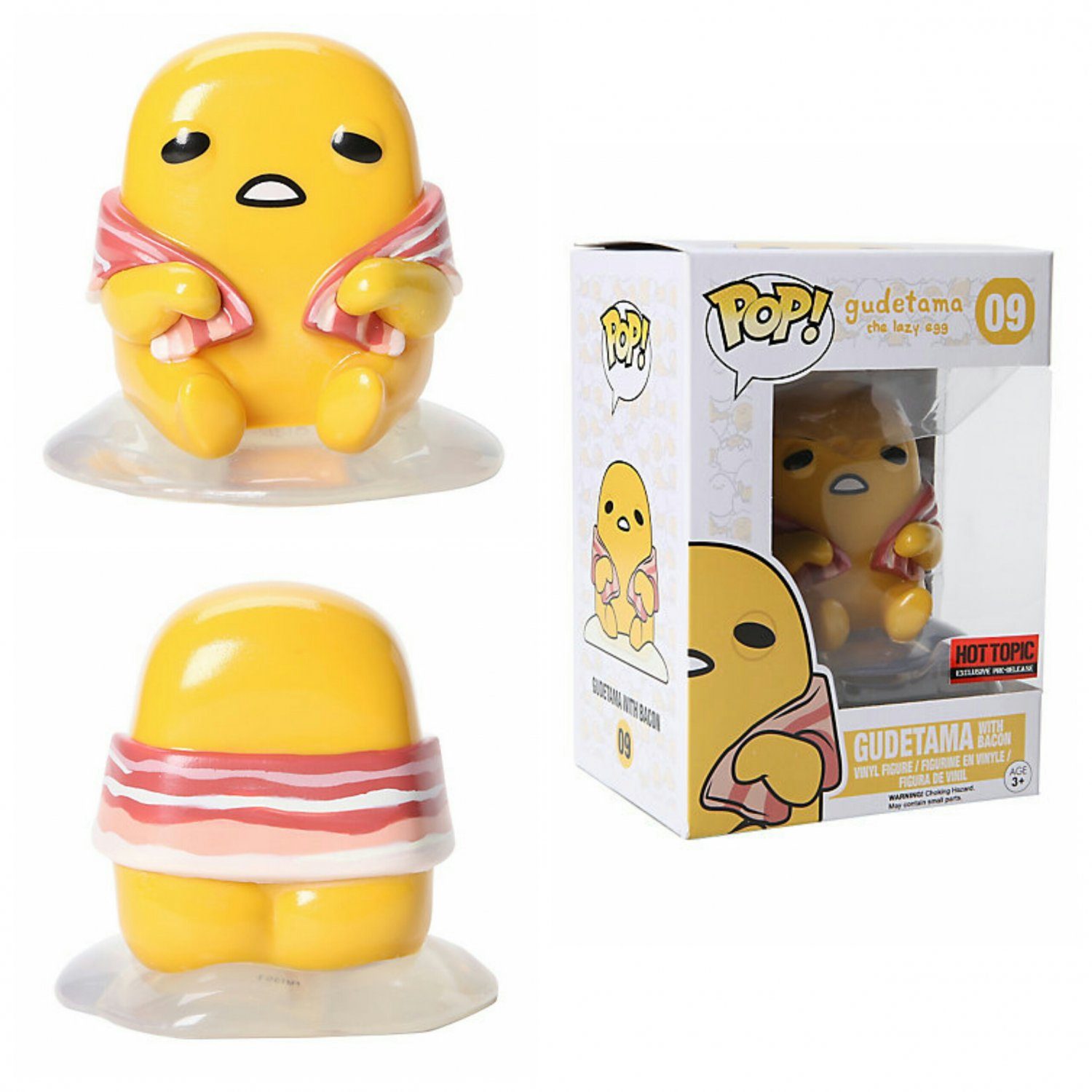 FUNKO Sanrio POP! #09 Gudetama with Bacon Collectible Vinyl Figure - Hot Topic Exclusive Pre-Release