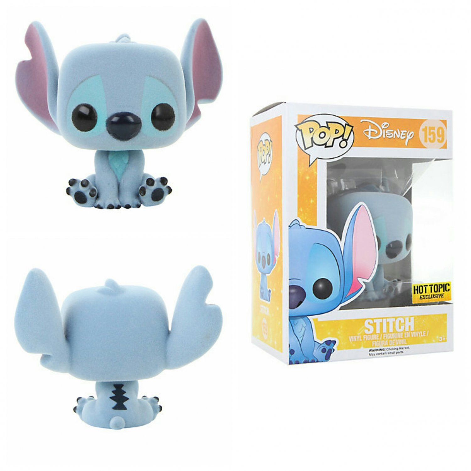 FUNKO Disney Lilo & Stitch POP! #159 Flocked Stitch Vinyl Figure Hot Topic Exclusive