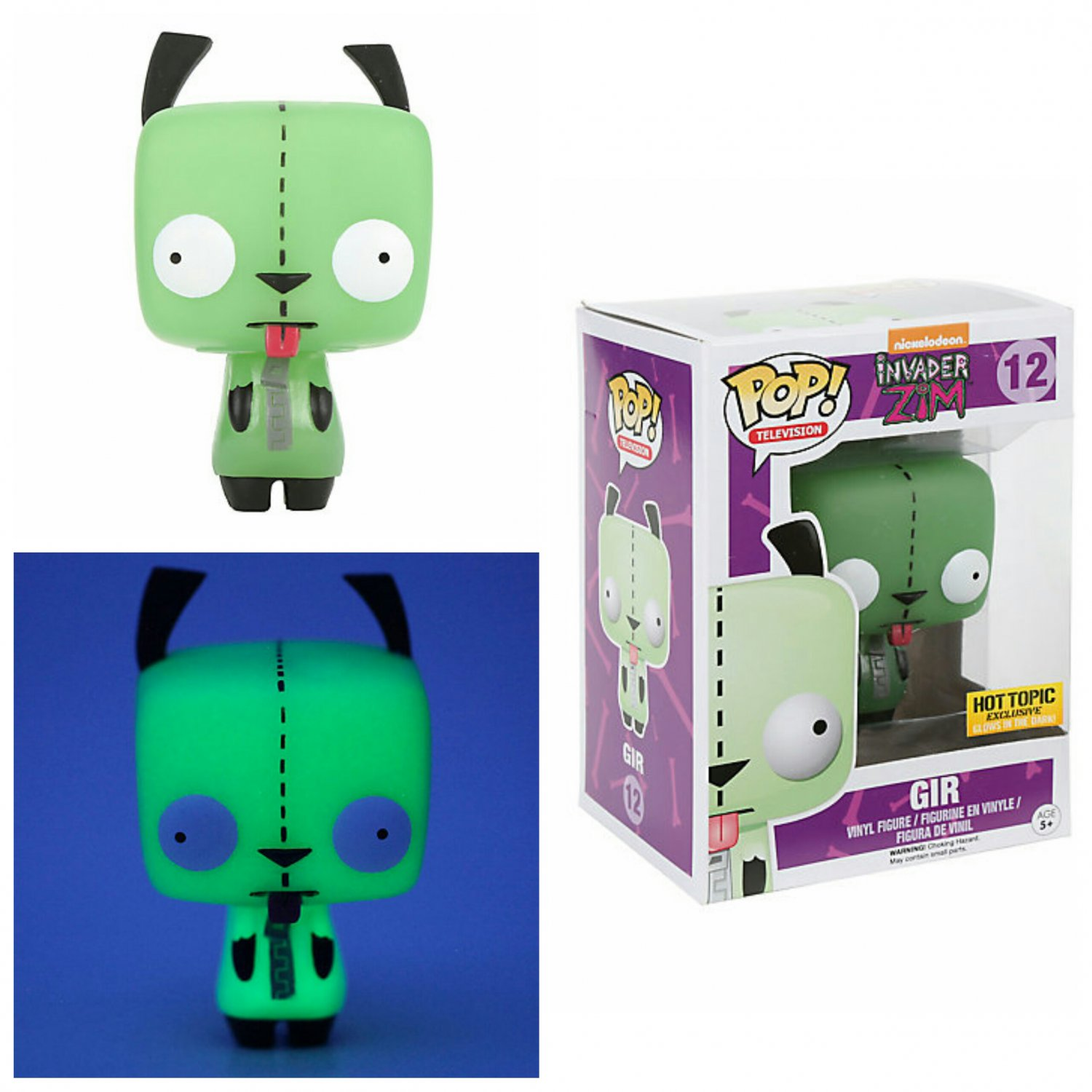 Funko Invader Zim Pop! #12 Television Gir Vinyl Figure Glow-in-the-Dark Hot Topic Exclusive