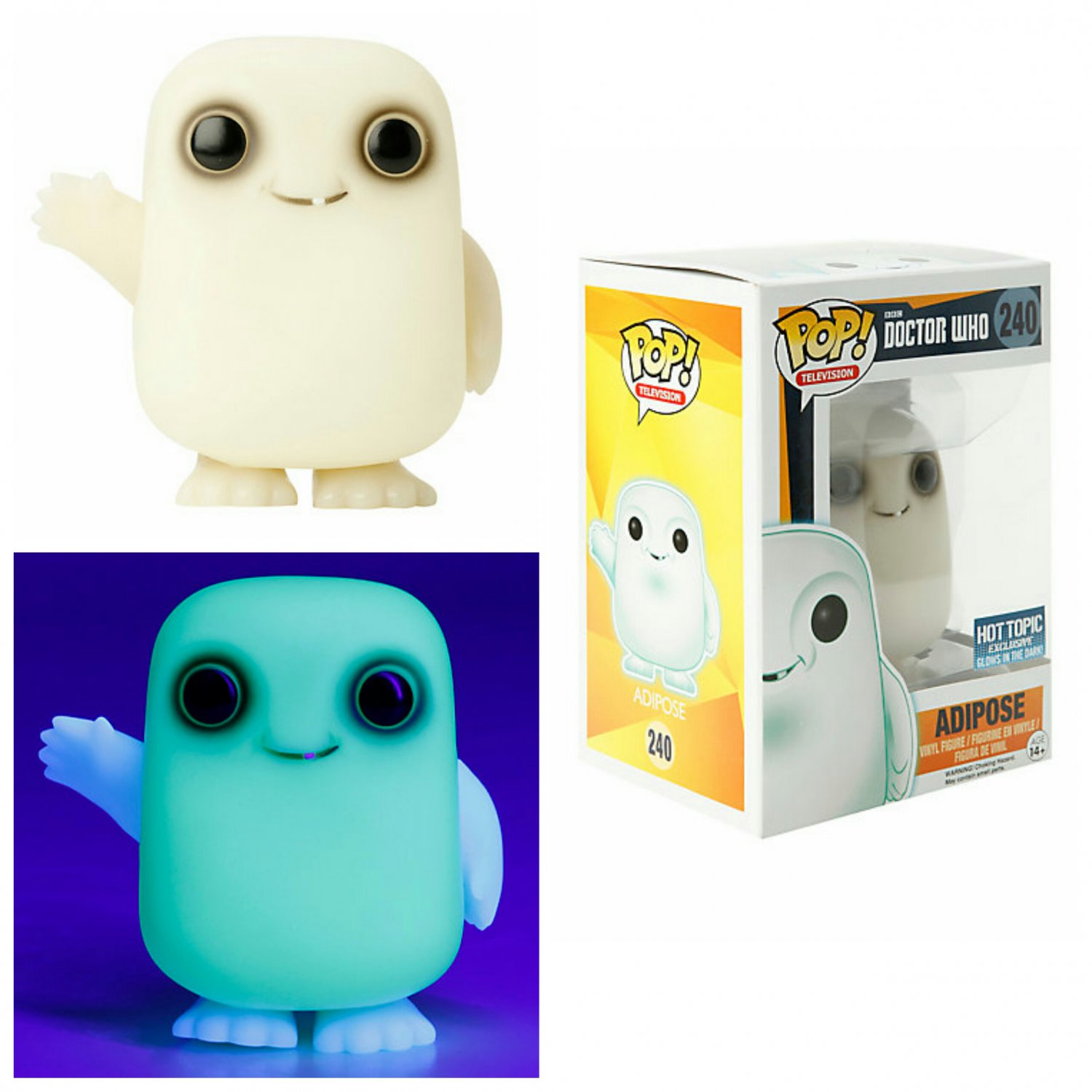 FUNKO Doctor Who POP! #240 Television Adipose Glow-In-The-Dark Vinyl Figure Hot Topic Exclusive