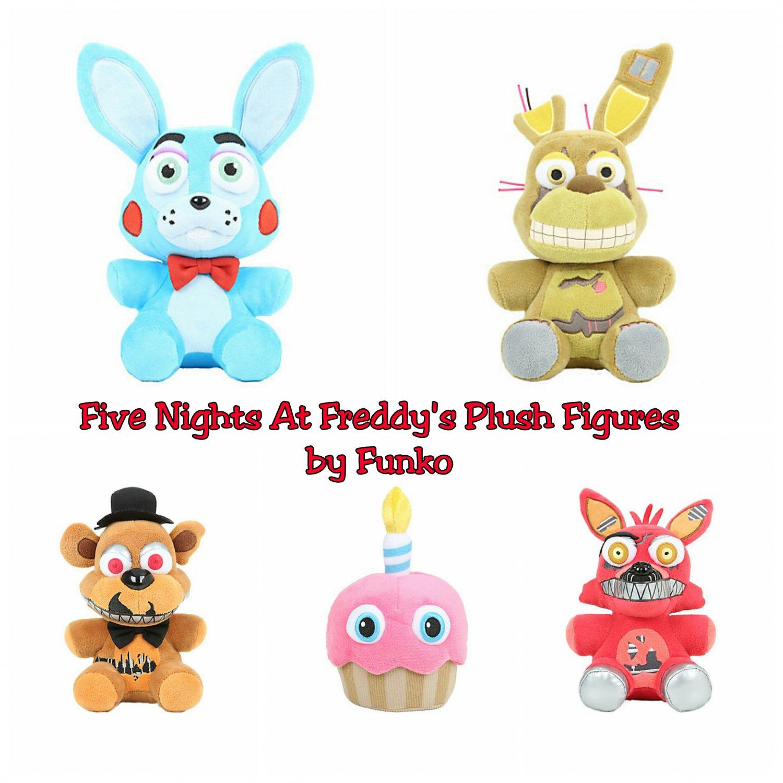 Funko Five Nights At Freddy's Set of 5 Plush Cupcake Nightmare Freddy & Foxy Spring Trap Bonnie
