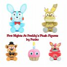 Funko Five Nights At Freddy's Set of 5 Plush Cupcake Nightmare Freddy & Foxy Spring Trap Bonnie