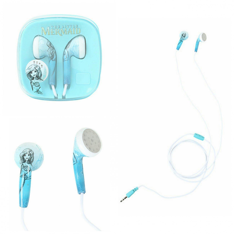 Disney The Little Mermaid Ariel Sketch Earbuds Earphones Headphones