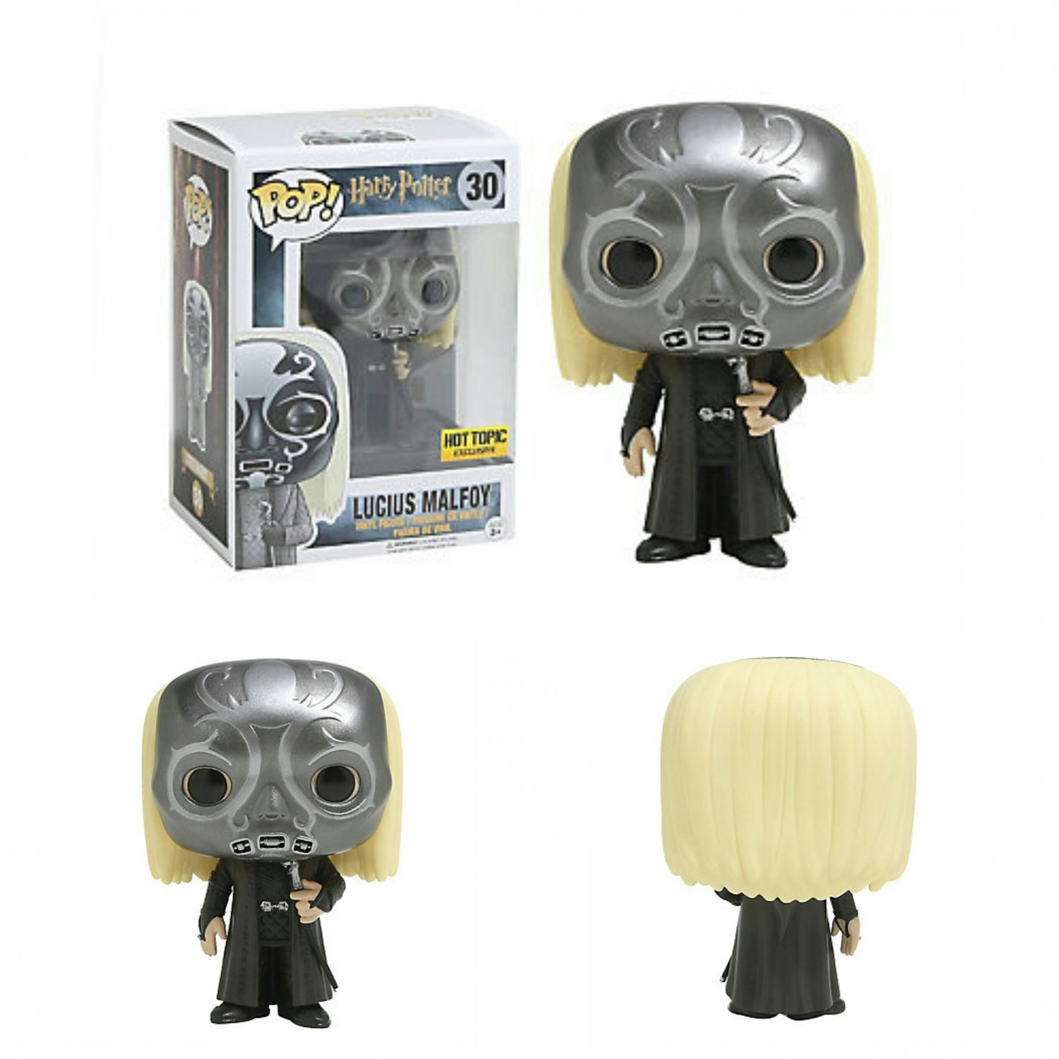 Funko Harry Potter POP! #300 Lucius Malfoy (Death Eater Mask) Vinyl Figure Hot Topic Exclusive