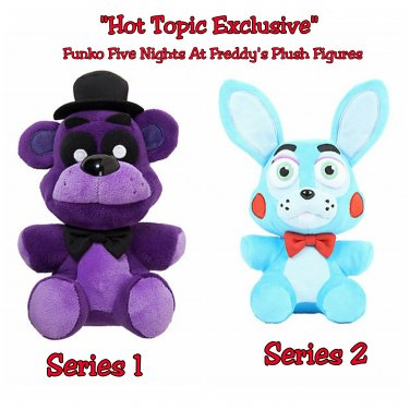 "Five Nights At Freddy's Shadow Freddy & Toy Bonnie 6"" Plush Hot Topic Exclusive by FUNKO"