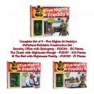 Complete Set of 3 Five Nights At Freddy's McFarlane Buildable Set Security Office, Closet, & Bed
