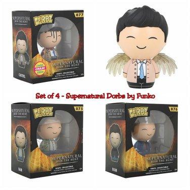 Set of 4 FUNKO Supernatural Dorbz Sam & Dean & Limited Edition Chase Castiel (+Regular) Figures