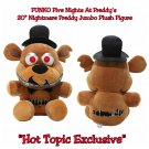 "Funko Five Nights At Freddy's FNAF Nightmare Freddy 20"" Jumbo Plush Figure Hot Topic Exclusive"