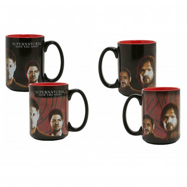 Supernatural Winchester Brothers Heat Change Reactive 16oz Ceremic Mug