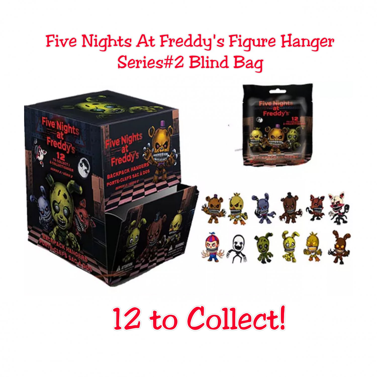 Fnaf Five Nights At Freddy S Collector Figure Hangers
