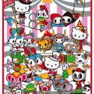 "Retired tokidoki x Sanrio Hello Kitty Circus 78"" x 55"" Throw Blanket"