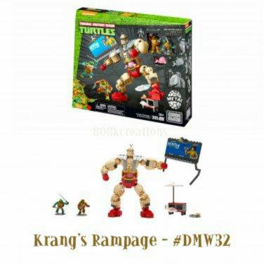 Teenage Mutant Ninja Turtles | TMNT Mega Bloks Classic Collectors Series Krang�s Rampage