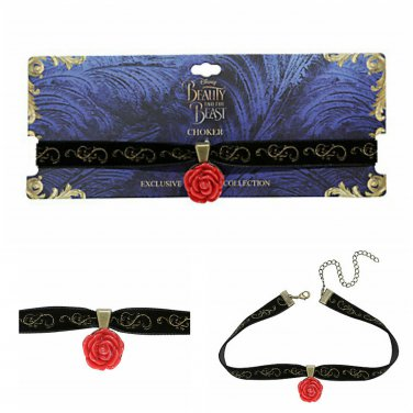 Disney Beauty & The Beast Rose Black Velvet Choker - Hot Topic Exclusive