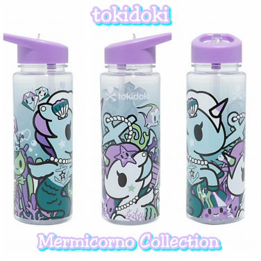 Loungefly Tokidoki Mermicorno Unicorno Water Bottle Designed by Simone Legno Hot Topic Exclusive